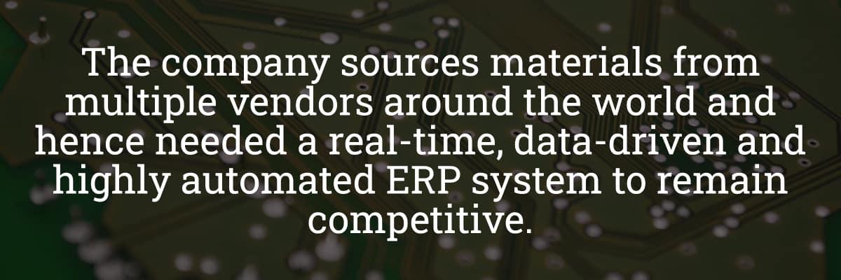 Data Driven ERP